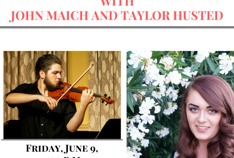 Performing Arts Society presents – A night of romantics, with John Maich and Tylor Husted