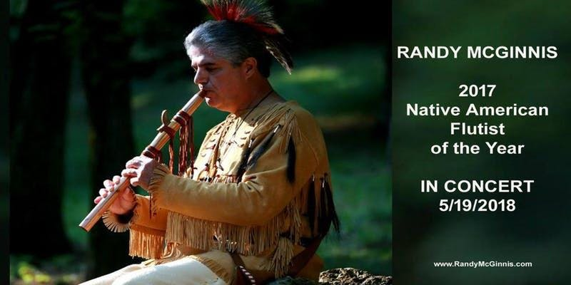 Award-winning Native American flutist Randy McGinnis performs at Old City Hall