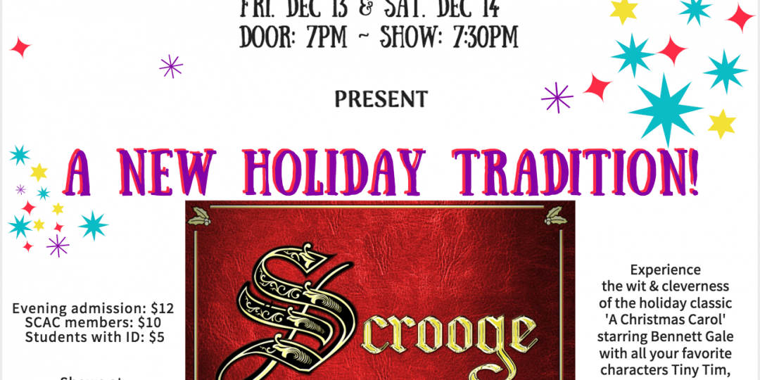 Scrooge, An Evening with Charles Dickens – get your tickets today!