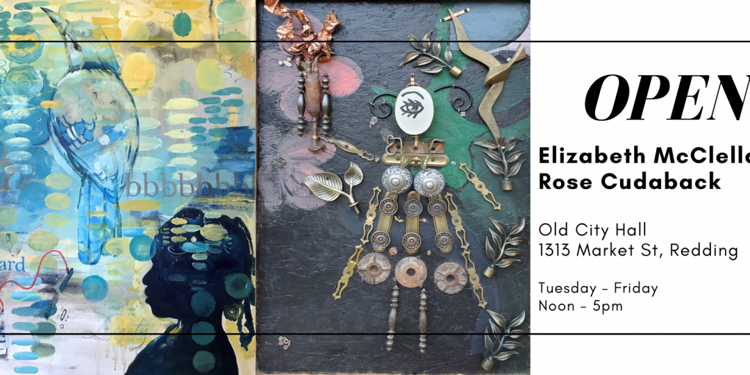 NOW OPEN – Rose Cudaback and Elizabeth McClellan – art show